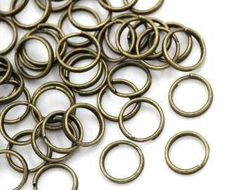 100 pcs Bronze Tone Split Double Loop Open Jump Rings - 8mm - 15 Gauge - 1.5mm Thick
