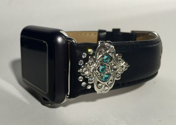 Custom Apple Watch Band with Swarovski by CRYSTALandBLING