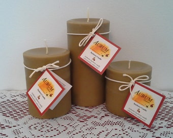 Authentic Handmade BAYBERRY Candles - wide pillar set