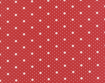Miss Scarlet - Polka Dot in Scarlet by Minick & Simpson for Moda Fabrics