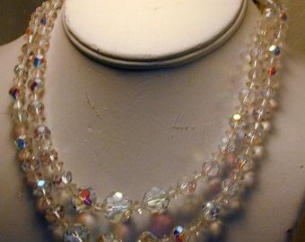 Vintage Aurora Crystal Necklace #2