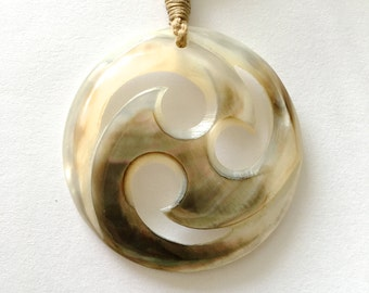Rolling Waves Maori Koru Necklace-FREE SHIPPING