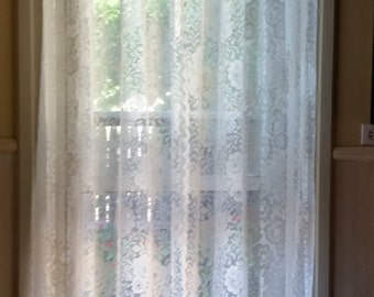 Shabby chic Lace Curtains Panels