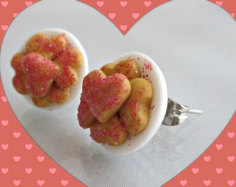 Heart Shaped Sugar Cookie Earrings