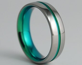 Titanium Ring, Wedding Band, Mens Titanium Wedding Band, Mens Titanium Wedding Ring, Promise Ring, The Orion Band with Comfort Fit Interior