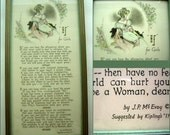 "Vintage 20s Framed Motto ""IF"" for Girls J.P. McEvoy / Kipling - Sweet Gift for Daughter or Niece Buzza Picture Print"