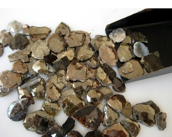 55% ON SALE Diamond Slices, Faceted Diamond, Free Form, Rough Diamond, Raw Diamond, 70 Pieces Approx, 15mm To 6mm Each