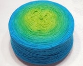 Extrafine merino silk cashmere gradient yarn lace weight yarn handdyed yarn 93-100g (3.3-3.5oz) - Spring breeze