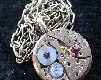 Steampunk Watch Movement Necklace Pendant A 5
