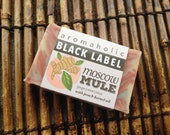 Moscow Mule Black Label soap - ginger, organic mint, and lime handmade soap - Moscow Mule scented natural soap