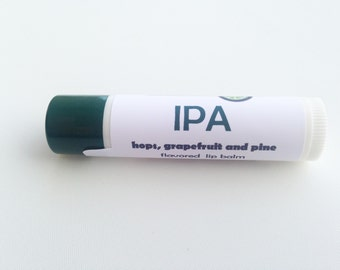 IPA flavored lip balm - craft beer inspired lip balm - pine, grapefruit and hops flavored lip balm