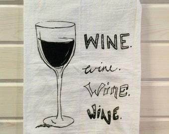 Wine dishtowel