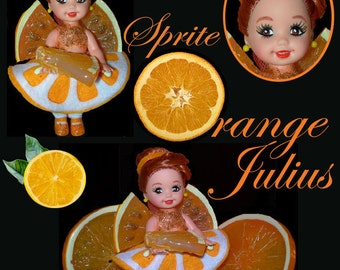 OOAK doll Fruit Sprites - Orange Julius - Former Kelly (Includes US Shipping!)