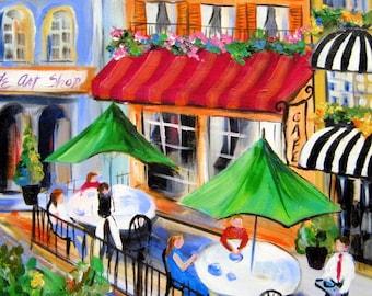 Cafe Original Painting 16 x 20 Art by Elaine Cory