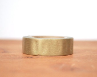 washi tape: solid metallic gold