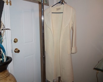 Vintage sweater Coat size small by Elegrance