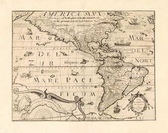 Map of America 1657