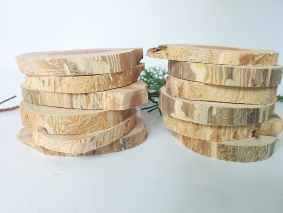 12 Small Rustic Cedar Craft Rounds Tree Slices