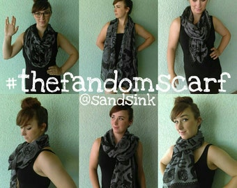 The Fandom Scarf - Geek Scarf, Nerd Scarf, Geeky Scarf, Nerdy Scarf, Harry Potter Scarf, Doctor Who Scarf, Star Wars Scarf