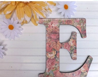 Items similar to big wall hanging wooden letter h nursery for Large wall letters for nursery