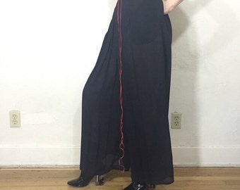 90s black ribbed long skeeve drop shoulder mini dress size M L