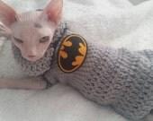 Don Sphynx,  Batman crochet sweater