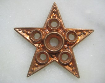 Vintage Star Finding; Celestial Light of the Sky, Detailed Open Work Die Struck Brass Finding, Embellishment, 27mm size, 1 Piece