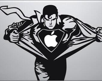 Superman, Mac Book, Mac Book decal, comics, superhero, Laptop decal