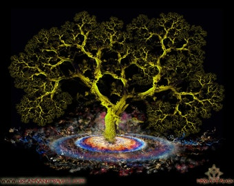 Fractal Oak - Digital Art Print by Masha Falkov