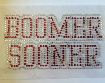 OU Boomer Sooners DIY Rhinestone Iron-on Transfer