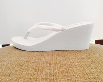 "Bright White Wedged Heel.3.0"" Extra charge.SAMPLE PHOTO."