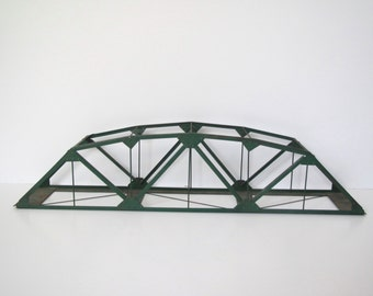 Vintage train trestle/ green metal train trestle/ architectural bridge