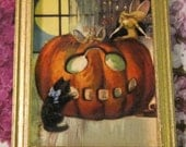 Dollhouse Miniature, 12th Scale, Halloween, Ghost, Bat, Pumpkin, Spooky, Haunted, Witch, House, Room Box:  Pictures