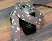 dSLR Camera Strap - Women's Accessories - Camera Strap - Birds in Flight in Taupe  - Valentine's Day Gift for Wife - Gift for Photographers