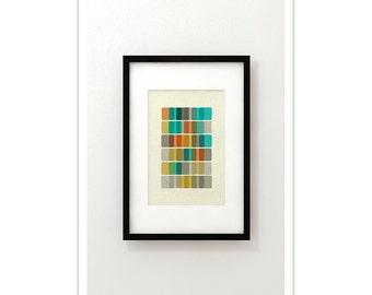 DNA VIII - Giclee Print - Mid Century Modern Danish Modern Minimalist Cubist Modernist Eames Abstract