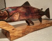 Blacksmith Made Metal Fish Sculpture