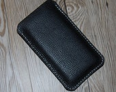 iPod Touch 6th Generation Case, Black Leather Custom Order