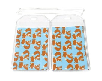 Luggage Tags Set of 2 Foxes