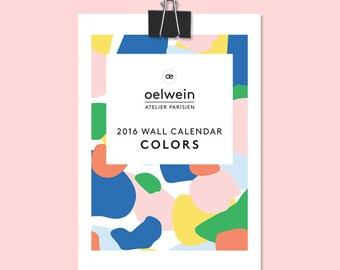 2016 Wall calendar COLORS - Limited edition