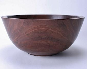 """Black Walnut Wooden Bowl #1518 10 3/4"""" X 4 3/4"""""""