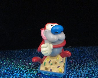Stimpy in the litter box figure Vintage Nickelodeon Ren and Stimpy