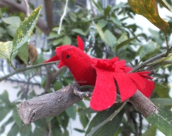 Bird Pattern And Instructions, Felt Bird Pattern, Template, Pattern, Instructions, PDF Craft Kit, Felt Ornament