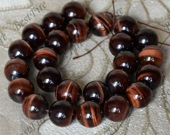 16mm of Natural red tiger eye's stone round Gemstone Loose Beads,gemstone loose bead,semi-precious stone bead