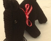 Scottie dog - knitted toy, proceeds to charity, dog, nature toy