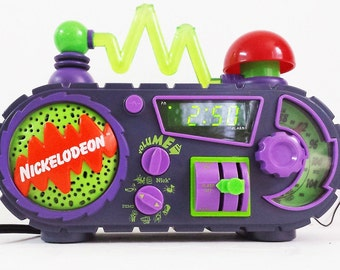 Vintage Nickelodeon Time Blaster Alarm Clock Radio
