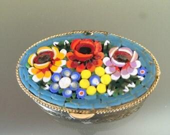 Italian Micro Mosaic Pill Box