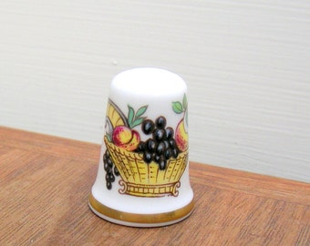 Vintage Thimble Fruit Basket Pattern Crown Staffs England