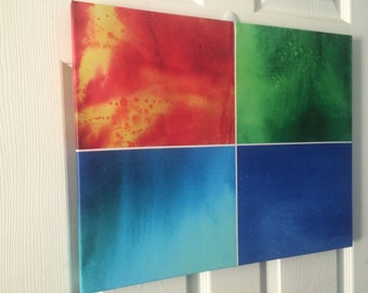 Four Elements Canvas Print Original Abstract Artwork
