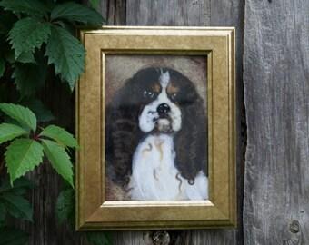 Cavalier King Charles Spaniel wool portrait