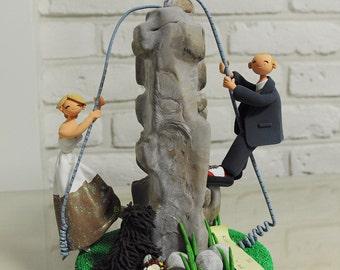 Rock Climbing rock climber theme wedding cake topper